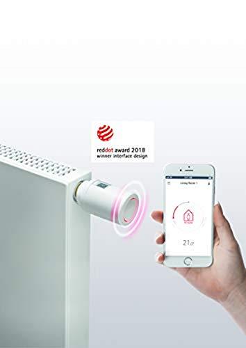 Danfoss 014G1105 Eco Home-Eletronisches Heizkörperthermostat mit Bluetooth-Funktion Elektronischer, programmierbarer Thermostat ALS Stand-Alone-Regler für Einzelne Räume, für PL,CZ,LT,EE,LV & SI.