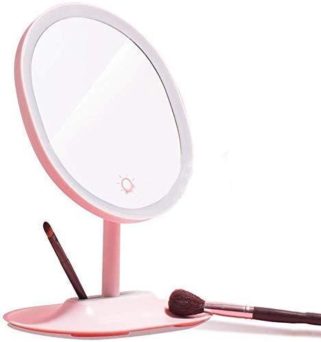 YUXIwang Espejo de maquillaje para el hogar, kit de luz de espejo de maquillaje LED para maquillaje, zoom HD mesa de maquillaje espejo de baño espejo escritorio independiente portátil
