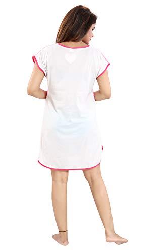 YKI ® Women's Polyester Blend Hosiery Short Cartoon Print Above knee Nighty /Night Wear /Lounge Wear - Assorted Print (3, Large-Chest-36 Length-33), Multicolour