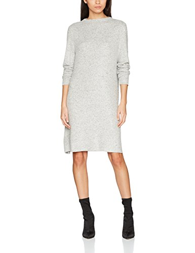 ONLY Damen Onlkleo L/S Dress KNT Noos Kleid, Grau(Light Grey Melangelight Grey Melange), Medium (Herstellergröße: M)
