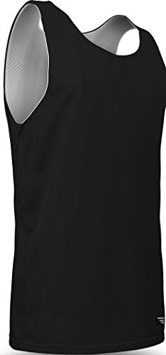 Game Gear Reversible Workout Jersey, Basketball/Gym Tank Top for Men and Boys AP-993 Black/White