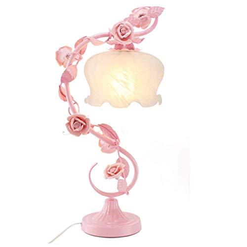 GYW-YW Lámpara de pared Lámparas de mesa, personalidad simple Rose Garden regalo de boda Lámparas de mesa, lámpara de cabecera del dormitorio, lámpara creativa, Continental decorativo Flores lectura l