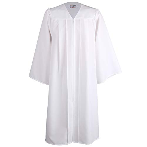 OSBO GradSeason Unisex Matte Robes for Graduation Gown, Choir Robes, Pulpit Robe and Pastor White