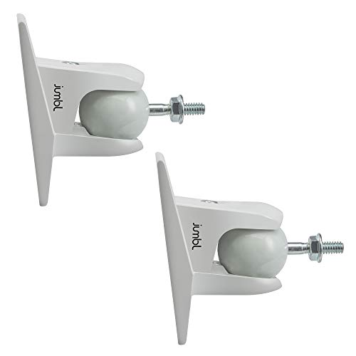 Jumbl SINSB7W ProGrip Ultra Stainless Steel Speaker Wall Mount Bracket, Pair of 2