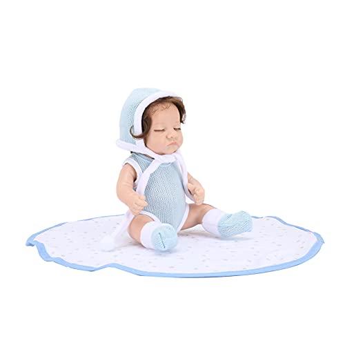 Jopwkuin Muñeca Reborn Muñeca recién Nacida Realista de 12 Pulgadas Muñecas Pesadas Hechas a Mano Muñeca de la Vida Real con Mat para niños de 3 4 5 6 7 años (Annie)
