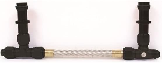 Professional Products 10406 Black Finish Carburetor Inlet Kit for -6 AN Holley 4150 Carburetor