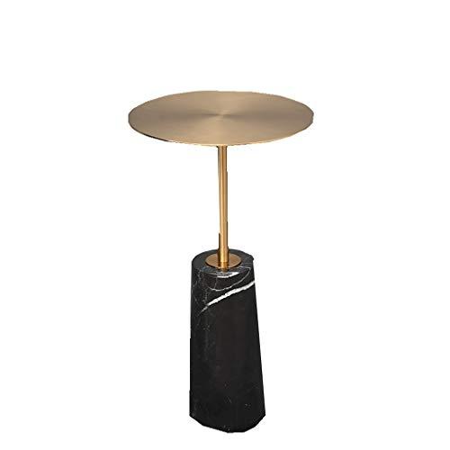 LSX-salontafel Kleine salontafel, kleine ronde tafel bijzettafel smeedijzeren marmeren hoek woonkamer gouden kleine salontafel creatieve moderne slaapkamer mini bijzettafel