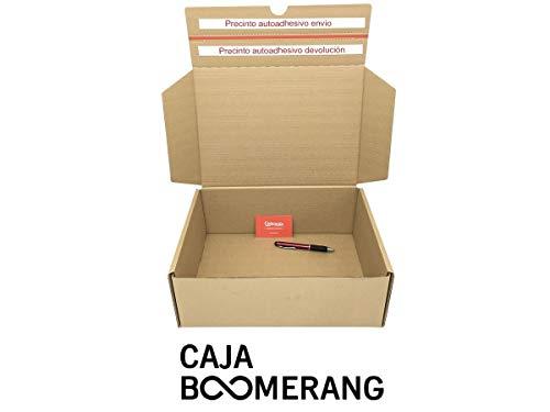 Pack de 10 Cajas de Cartón para Envíos (Caja Doble Envío) de 35 x 25 x 13 cm. Color Marrón. Permite Hacer Dos Envíos en Uno. Mudanzas. Fabricadas en España. Normativa AFCO. Cajeando
