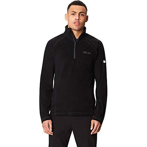 Regatta Montes Lightweight Half Zip Overhead Micro Fleece, Nero, L Uomo