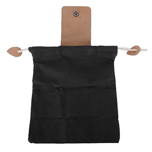 Sac de cueillette de jardin, grande pochette de cueillette de fruits de 8,9 x 8,3 po polyvalente avec une toile à boucle pour le jardin(black)