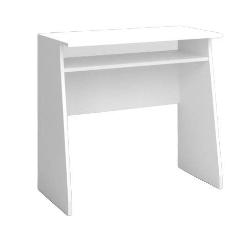 Fabrikit Mesa Escritorio Kripton Color Blanco Mate Oficina despacho Estilo Moderno Muebles 76x80x40 cm