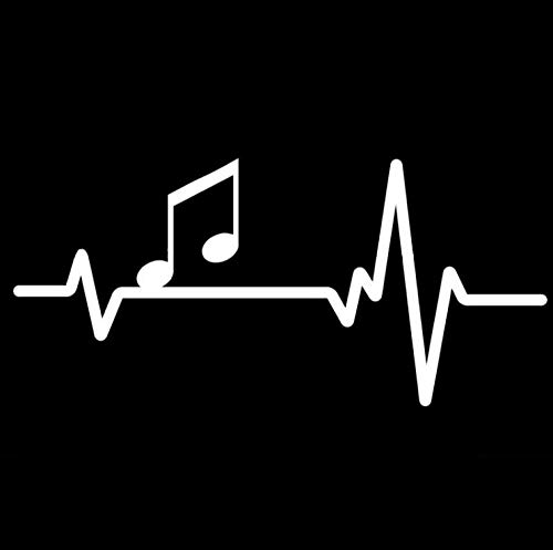 Auto autoaufkleber aufkleber 16,6 CM * 7,7 CM Notenblatt Liebe Klavier Gitarre Heartbeat Line Vinyl 1 Stück