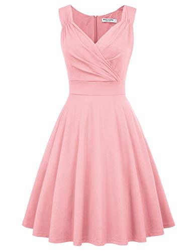 50s Kleider Rockabilly Vintage Retro Kleid cocktailkleider rosa a Linie Kleider CL698-10 L