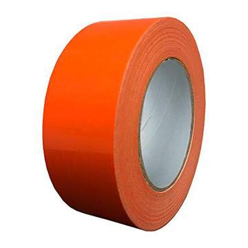 Exa Duct Tape 1.88 Inches x 60 Yards, Duct Tape for Crafts, Extra Strength, No Residue, DIY, Repairs, Indoor Outdoor Use, Book Repair, Must Have Garage Tool (1.88 X 60 Yards, Hi Vis Orange)