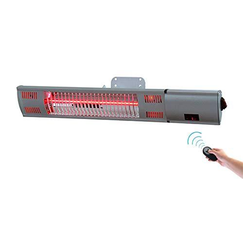 Exteriores Calentador De Patio Con Control Remoto, En La Pared Estufa De Terraza Electrico Tubo De Halógeno Impermeable Calefactor...