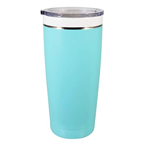 CeramiSteel Ultimate Insulated Travel Mug (22 ounce), Ceramic Inner Coating over Stainless Steel, BPA Free Lid, Durable Turquoise Finish