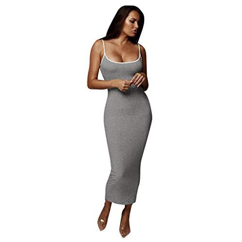 Amlaiworld Damen Frühling Sommer Unterwäsche MiniKleid elegant Strand Club Abendkleider Party Mode kurz cocktailkleid Ärmellos eng Weste Kleid (S, Rot) (S, GrauA01)