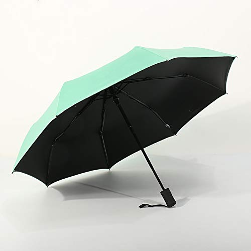 WWDKF Schwarzer Faltschirm Aus Kunststoff, Vollautomatischer 8-Knochen-Regenschirm, Regen- Und Winddicht Im Freien, Kann UV-Strahlen Effektiv Blockieren,I