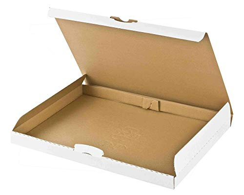Maxibriefkarton DHL briefkastentauglich Höhe 3cm 255x190x30mm Din A5/B5 weiß, 50 Stück