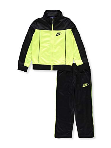 NIKE Baby Infant Sweatsuit/Tracksuit (2T, Half Yellow Half Black)