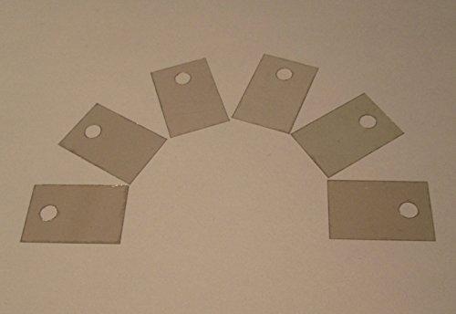 Set 6x Glimmerscheibe Isolierscheibe TO220 TO-220 f Kühlkörper Montage 18x12mm