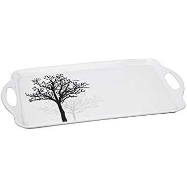 Corelle Coordinates by Reston Lloyd Melamine Tidbit Serving Tray, Timber Shadows