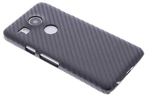 hCase LG Nexus 5X Hülle – Carbon Handyhülle – Hard Case Backcover in Schwarz