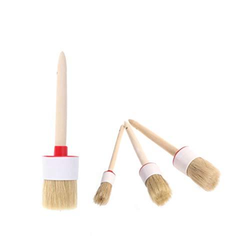 50 mm de LANIAKEA cer/ámica decoraci/ón del hogar Juego de 3 pinceles de tiza 30 mm encerar para muebles de cerdas naturales redondas 20 mm pintura o cera