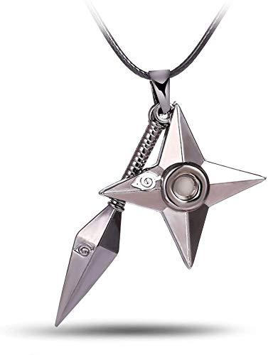 Tbrand Cosplay Anime Naruto Kunai Shuriken Ninja Star Necklace Pendant