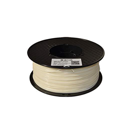 3d imprimante filament ABS filament 1.75mm matériel d'impression 3D en plastique ABS for imprimante 3D et stylo d'impression multicolore en option 1kg (Color : White)