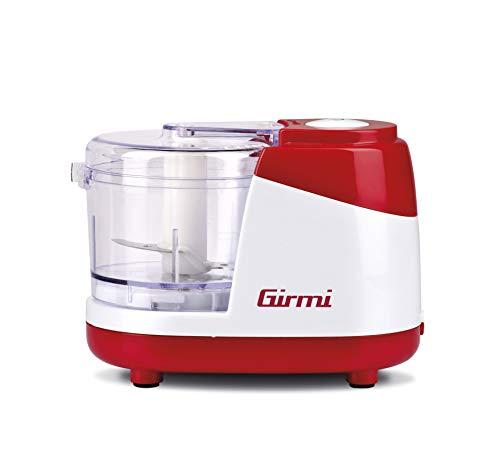 Girmi TR02 Tritatutto, 250 W, 400 milliliters, Plastica, Bianco/Rosso
