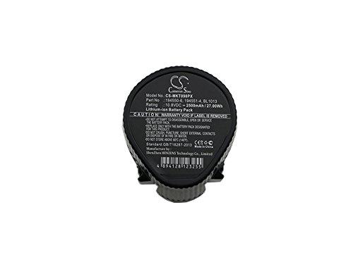 CS CS-MKT090PX - Batería para Makita FD02Z HP330 HP330D HP330DWE HP330DWX HP330DZ HS300 HS300D HS300DW HS3 HU01 HU01Z LC01 LC01Z LC01ZX ML100 MU01 MU01Z MUH260 MUH260D MUH260DW MUH260DZ