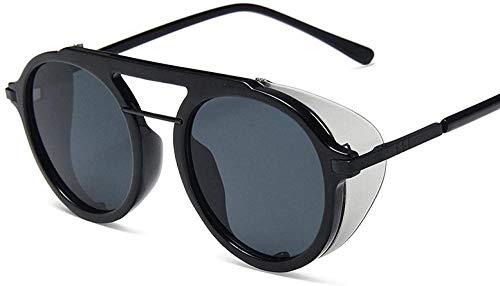 HNsusa Gafas de sol con montura de metal punk Gafas de sol para mujer Gafas redondas de diseñador de lujo Gafas de sol de moda para hombre Gafas de sol vintage 3
