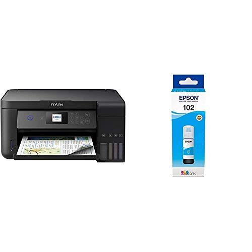 Epson EcoTank ET‑2750 5760 x 1440DPI Inyección de Tinta A4 33ppm Impresora multifunción + 102 Cian Cartucho de Tinta Cartucho de Tinta para impresoras