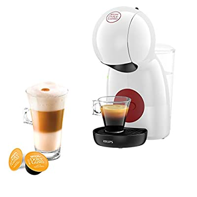 Nescafé Dolce Gusto Piccolo XS Manual Coffee Machine, Espresso, Cappuccino and More, White by KRUPS