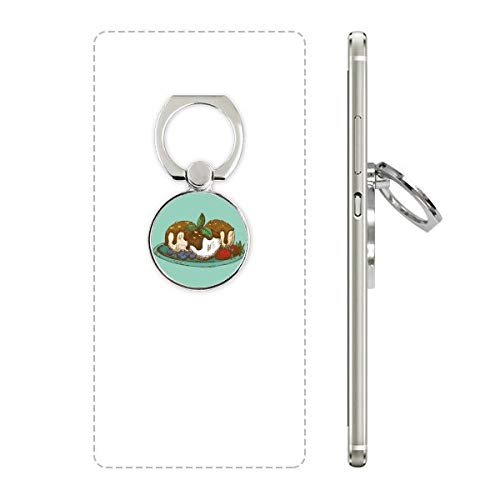 DIYthinker Aardbei Chocolade Ijs Bal Telefoon Ring Stand Houder Beugel Universele Smartphones Ondersteuning Gift