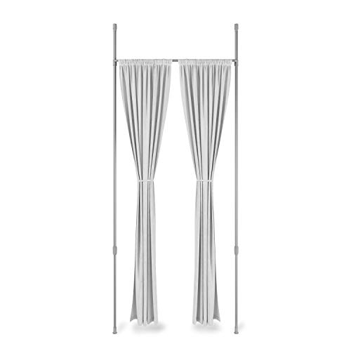 Umbra Anywhere Expandable Room Divider, Tension Curtain Rod, Damage Free, 36 to 66 Inches, Nickel