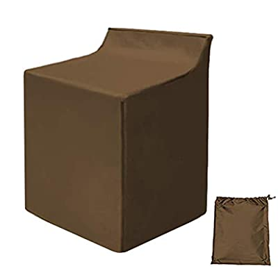 "Covolo Washing Machine Cover,Outdoor/Indoor Washer and Dryer Cover Large 29""W x 28""D x 40""H,Fit Most Top Load or Front Load Washers and Dryers,All Weather Protection khaki Coated"