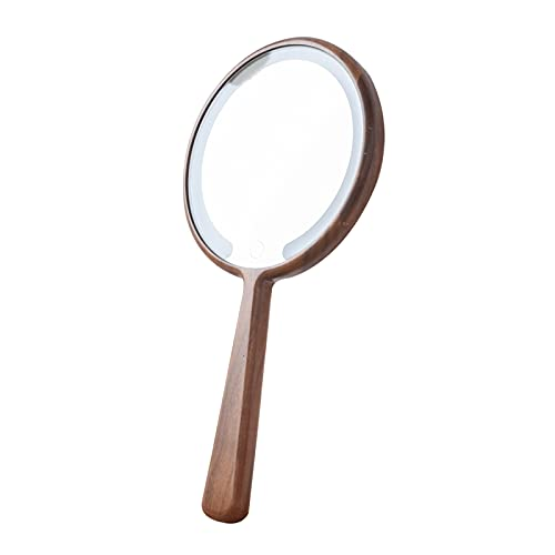 LTLCLZ Espejo para Maquillarse,Espejo De Mano O De Pie,Espejo De Maquillaje con LED, Ajustable Espejo Cosmético,3 Luces Ajustables Brillo,para Maquillaje Y Cuidado Facial,B