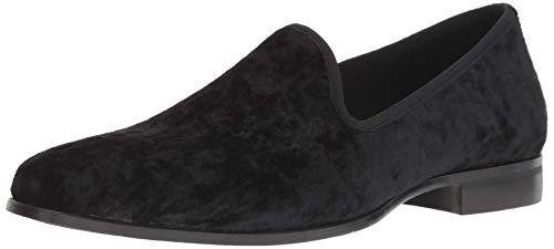 STACY ADAMS Men's Sultan Velour Slip-On Loafer, Black, 10 M US