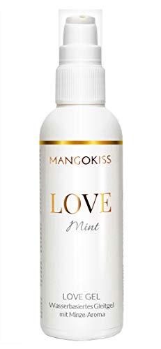 MangoKiss LOVE MINT - Essbares Gleitgel mit Minze Geschmack - Veganes Gleitmittel auf Wasserbasis, kondomgeeignet - Hergestellt in Deutschland