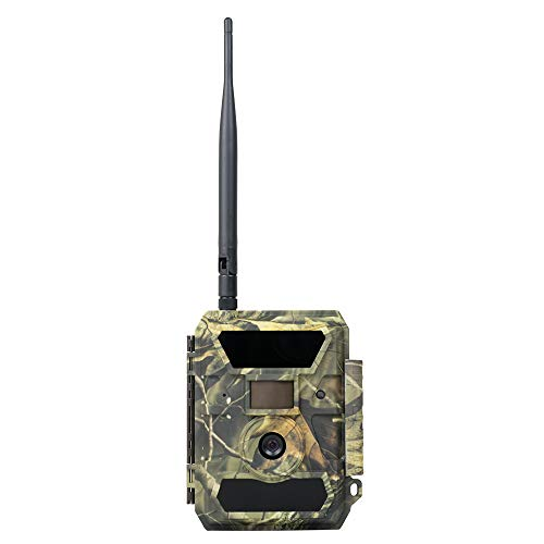 PNI Hunting 350C Wildkamera Fotofalle mit Bewegungsmelder Nachtsicht 12MP 1080P Full HD 100° Weitwinkel mit Internet, optionaler SMS, Foto am Telefon, E-Mail Infrarot No Glow LEDs und IP66