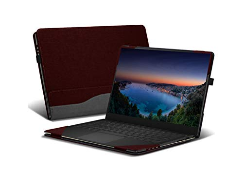Heycase Case Compatible with Hp Spectre X360 15.6 inch, PU Leather Folio Stand Hard Shell Compatible for Hp Spectre x360 15t Touch/15-CH011NR/CH012NR/BL000 Series 15' Case(NOT FIT AP000 Series),Red