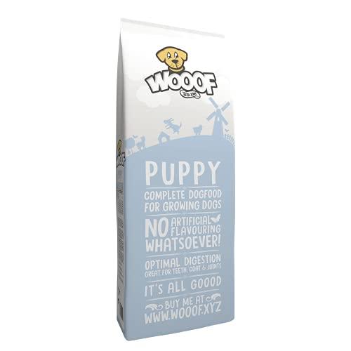 WOOOF Welpen 18kg kaltgepresstes Hundefutter mit Rindfleisch | Purinarmes Trockenfutter, leicht verdaulich, ohne Weizengluten