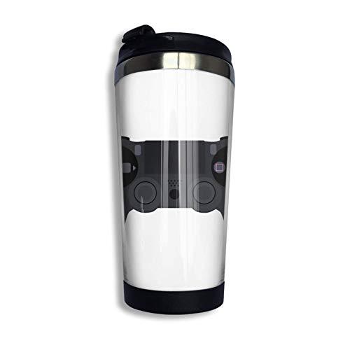 DJNGN Controlador Ps4 Taza de viaje de café Taza de doble pared de acero inoxidable Tazas de vaso con aislamiento al vacío 13.5 oz