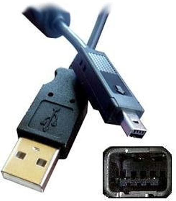 ABC Products - Cable USB para cámara de fotos digital Fuji Fujifilm Finepix 1300 1400 2200 2300 y 2400 entre otros