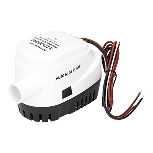12V 1100GPH Bomba de agua de sentina sumergible automática para barcos Interruptor de flotador incorporado de alta eficiencia Bomba de sentina sumergible para barcos pequeños