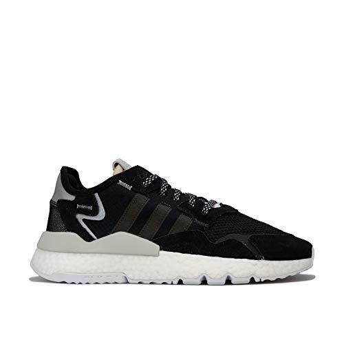 Adidas Nite Jogger W, Zapatos de Escalada Mujer, Multicolor (Negbás/Carbon/Blapur 000), 43 1/3 EU