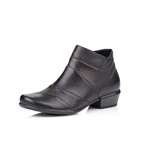 Remonte Damen Stiefeletten R8370, Frauen Ankle Boots, Stiefel halbstiefel Bootie knöchelhoch Damen,schwarz/Vapor/Lake/schwarz / 02,36 EU / 3.5 UK