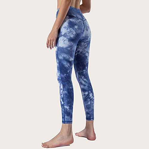 Pantalones De Yoga,Nuevos pantalones de yoga de otoño e invierno para mujer, pantalones deportivos para correr, pantalones de tobillo elásticos con efecto tie-dye al aire libre-Orquídea de tinta_SG